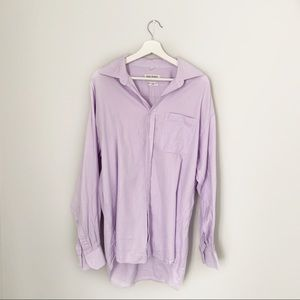 Balmain Paris Men's Lilac Dress Shirt